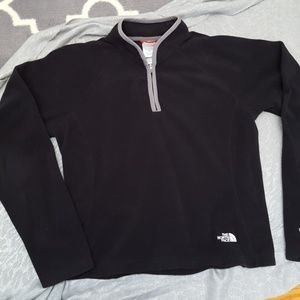 North Face pullover with front zip.